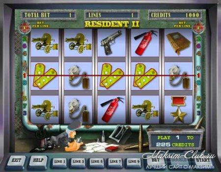 Игровой автомат Resident в казино Азимут